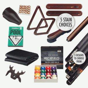 Professional pool table accessory package