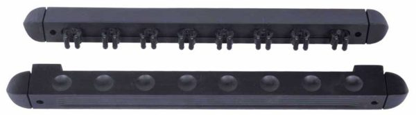 8 cue 2 piece wall holder for billiard cues