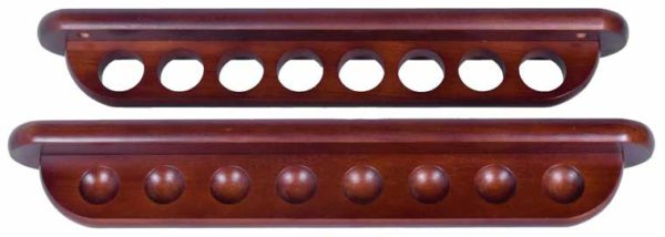 Deluxe 8 cue 2 piece wall holder for billiard cues