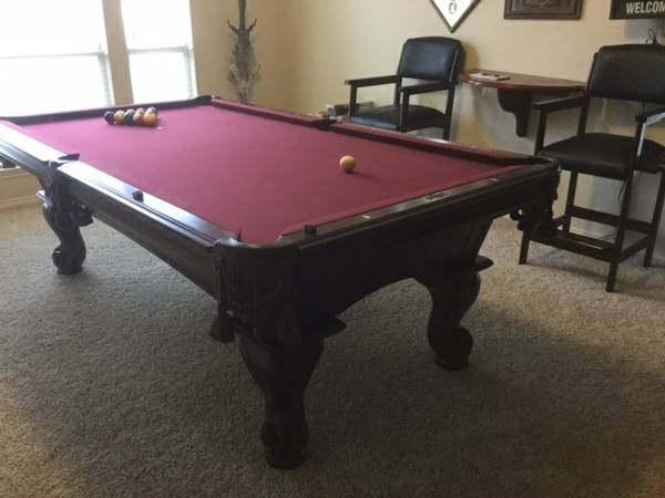 ... May Be Sold Separately Which Includes: 6 Cue Sticks, Box Of Chalk, 2  Brushes, 9 Ball Rack, Rule Book, Chalk Holders For Pool Table And Trick 8  Ball.