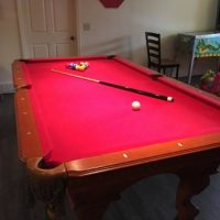 8 ft Slate Pool Table With Ping Pong Top