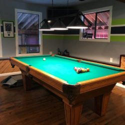 Excellent condition Brunswick pool table with all accessories