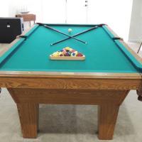 8' Oak Olhausen Pool Table