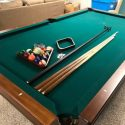 Brunswick Glen Oaks 8 Ft. Chestnut and Green Billiard Table Pool Table