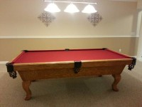 8ft Olhausen Claw Foot Pool Table