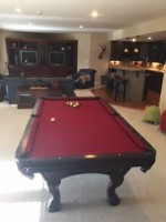 8 ft Beautiful Cherry Pool Table