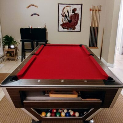 8 ft Vintage Pool Table ( Pace-Maker by Quality Billiards Mfg)