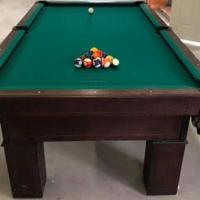Beautiful custom made Buckhorn Billiards table regulation size