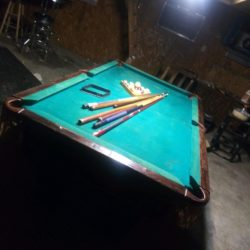 7' pool table , leather pockets