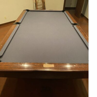 BRUNSWICK 9 FOOT 3 PC SLATE POOL TABLE