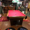 olhausen 8ft pool table with everything included +table tennis top