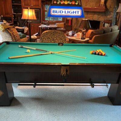 "Brunswick, Balke and Collender Antique Slate Pool Table Circa 1924 102"" X 56"" - Very Fine Rare"