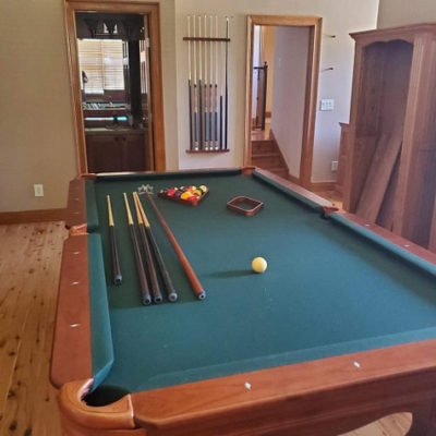 "Connely ""Scottsdale"" 8 foot pool table with upgraded non-standard 2-inch thick slate"