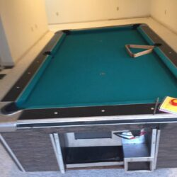 Single slate vintage coin-slot Pool Table