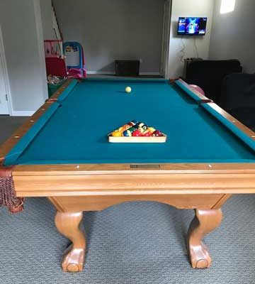8ft Brunswick Contenter Oak Finish Pool Table Installation Included (SOLD)