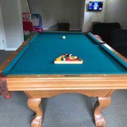 8ft Brunswick Contenter Oak Finish Pool Table Installation Included