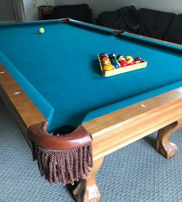 Brunswick Contenter Oak Finish 8FT Pool Table Installation Included (SOLD)