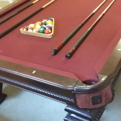 This is beautiful 9 foot (six leg) Leisure Bay professional table that I purchased for over $4K