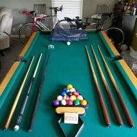 8 foot Solid Slate Pool Table And Table Tennis