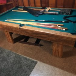 Excellent Condition Brunswick pool table all items in the picture are included in the price