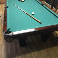 Premium Brunswick Bradford II Cherry (8') Billiards table with German made Kettler pingpong top