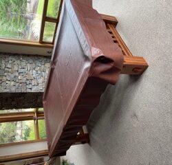 Vitalie 8ft Mission Style Billiard Table and Set