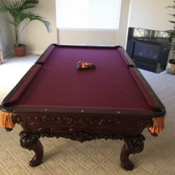 The Elegance Solid Alder Renaissance Cantenbury Pool Table