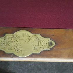 Antique Brunswick 4 slate pool table