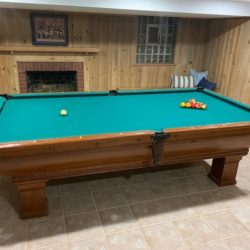 Brunswick Balke Collender pool table, early 1900's, great condition