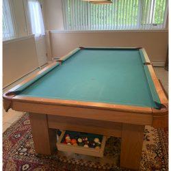 Antique Custom Pool Table 1920 built by Columbia Billiard Table, New York