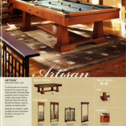 Brunswick Artisan 8' Billiards Table