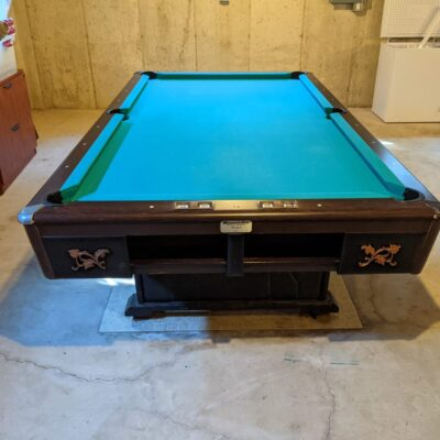 8 ft. Minnesota Fats Pool Table in fair condition local delivery and installation included