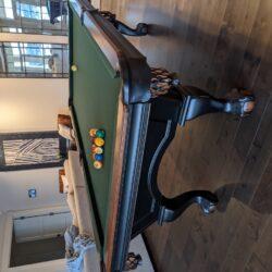 Brunswick 8′ Foot Greenbriar II Pool Table - Chesnut + Ping Pong Table Top