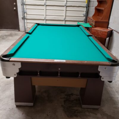 Saunier-Wilhelm 8' Pool Table Manufactured between 1921-1923.